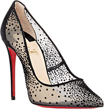 Christian Louboutin Black follies lace pump