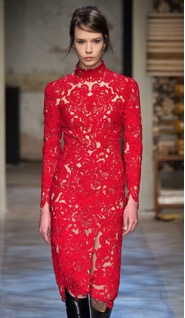 erdem red lace dress