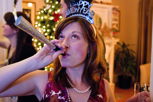 new year lady