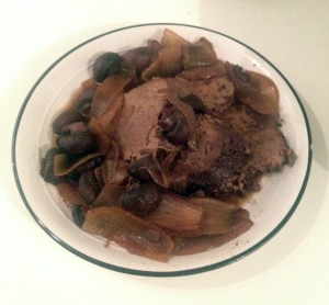 pot roast plated