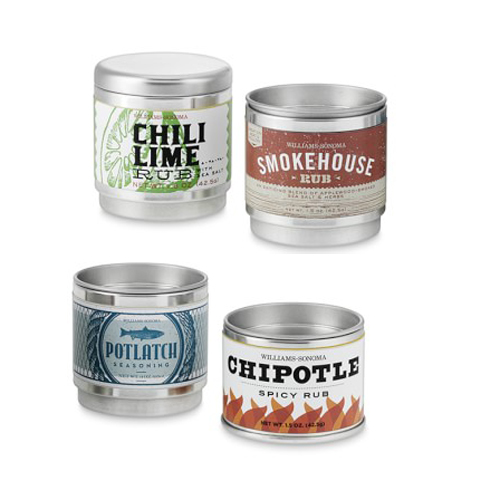 An assortment of rubs for a flavourful gift