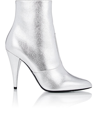 Saint Laurent Metallic 'fetish' ankle boot