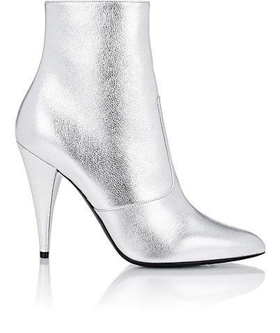 Saint Laurent Metallic 'fetish' ankle boot