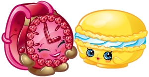 Shopkins characters Ticky Tock and Macca Roon