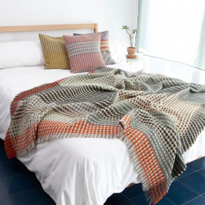 For wool throws I like Wallace#Sewell, a British design studio. Using traditional technique and a design aesthetic influenced by Bauhaus ideology, Wallace#Sewell products show pride of craft, straight from handlooms in their London and Dorset studios.