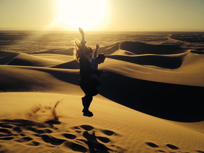 kids in desert