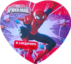 Heart shaped spider-man valentine's day present