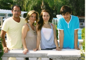 Kathleen with her family
