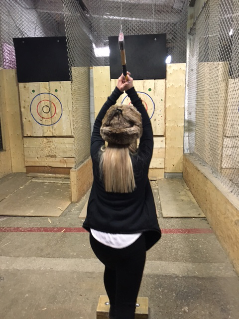 Axe throwing is a lot like darts - but bigger. It's actually insanely fun.