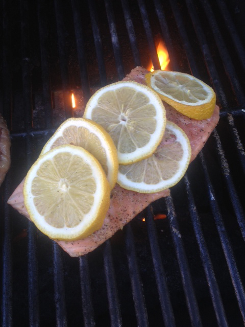 barbecued ginger salmon