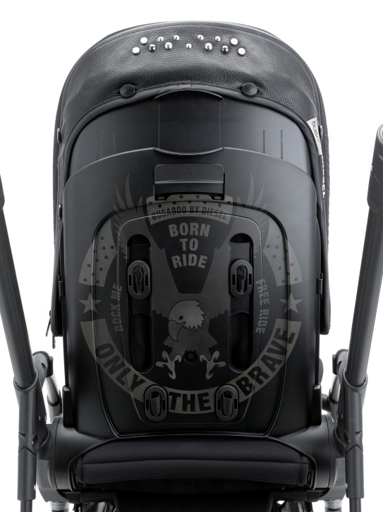 Limited edition Bugaboo by Diesel Rock Collection - tattoo laser-etched Only The Brave