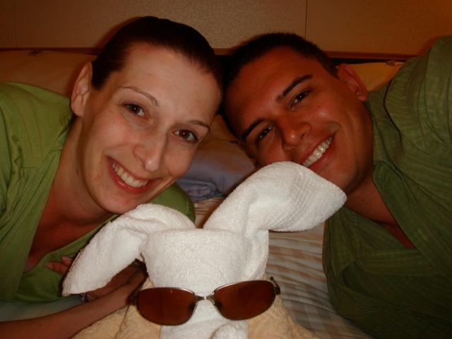 cruise ship couple - towel bunny