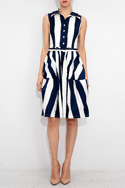 Dali Stripe Claire dress by Samantha Sung