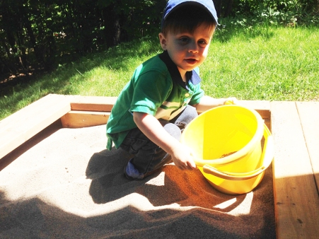 two year milestones - sand box